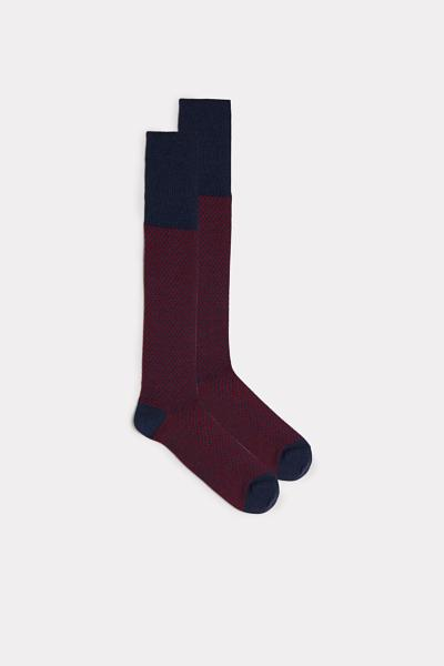 Tall Patterned Cotton Socks
