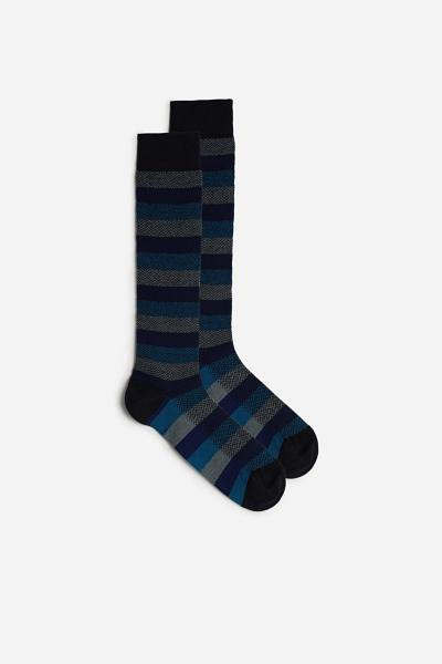 Long Multi Pattern Supima Cotton Socks