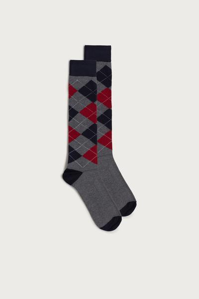 Chaussettes Longues en Coton avec Motifs Différents