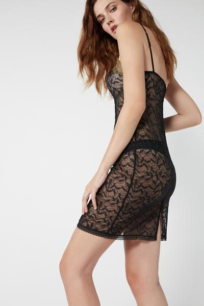 Chic Foliage Lace Slip