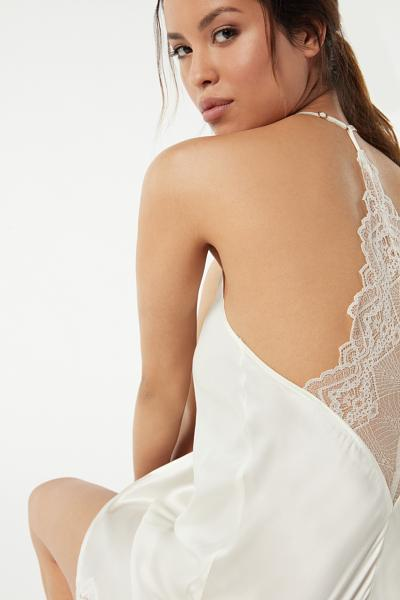 Lady Sheer Silk and Lace Slip