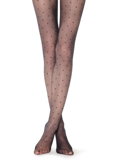 Sheer polka dot tights