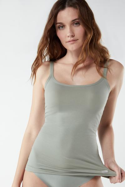 Natural Cotton Strappy Top