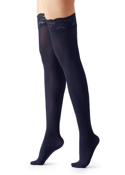 50 Denier Opaque Microfiber Thigh-Highs