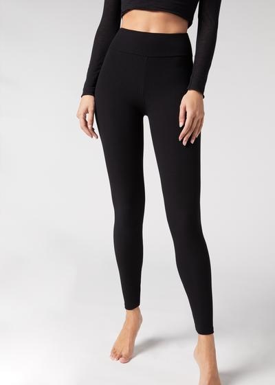 Bamboo leggings in comfort ribbed fabric