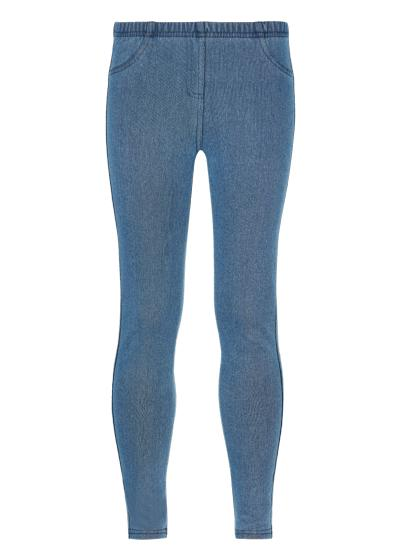 Girls' Thermal Denim Leggings