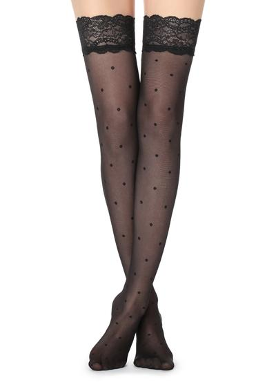 Polkadot thigh-highs
