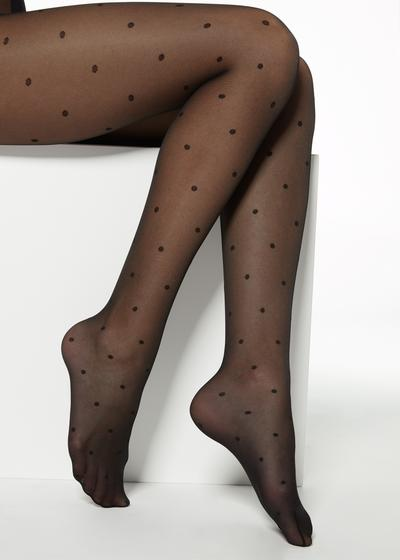 Sheer Polka-Dotted Tights