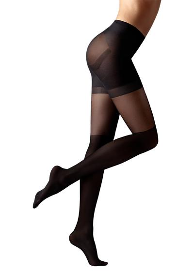 Longuette-effect Total Shaper Tights