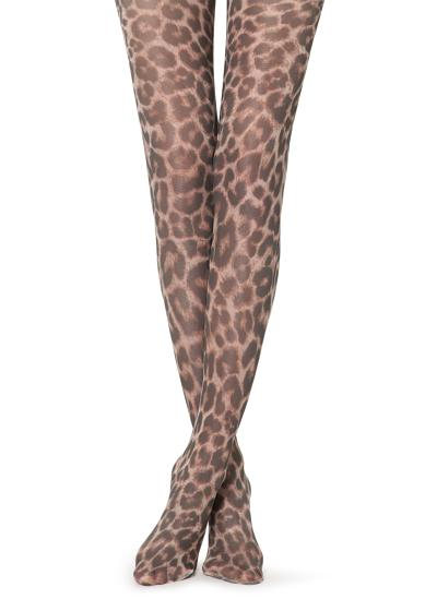 Animal printed tights