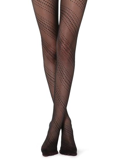 Spiral Polka Dot Tights