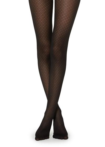 Diamond-Patterned Tights