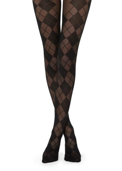 Collants à Motifs Losanges