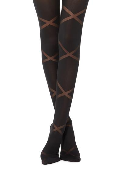 Crisscross Devoré Tights