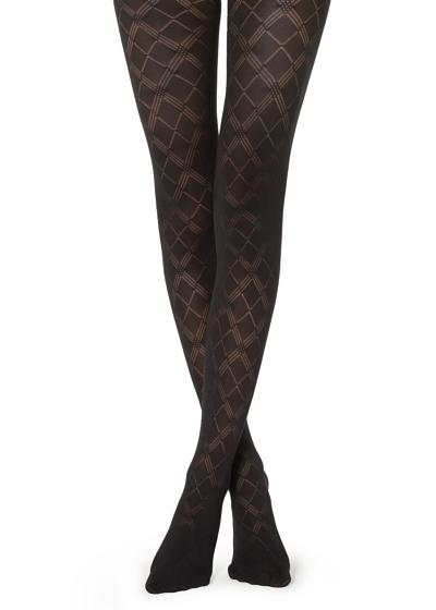 Diamond Patterned Tights