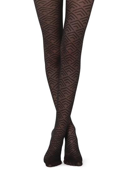 Geometric Patterned Tights