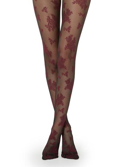 Collants à Motif Floral
