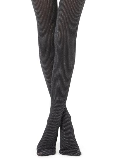 Glitter Ribbed Tights