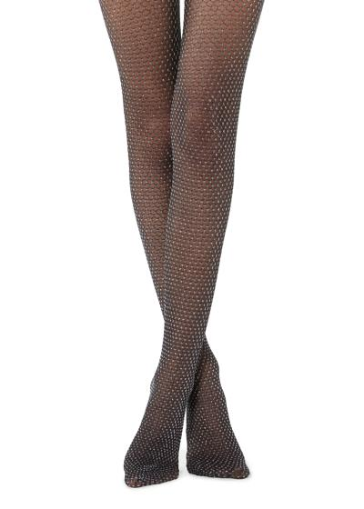 Glittery Fishnet Tights