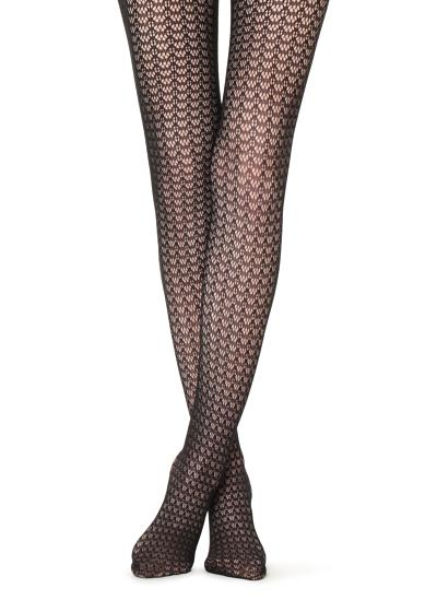 Fishnet openwork tights