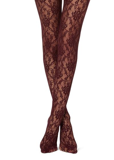 Collants Renda Floral