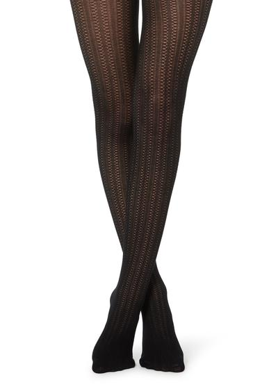 Collants com Caxemira Tricotada