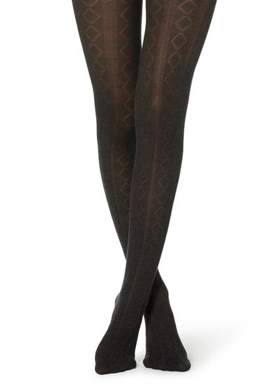 Patterned cashmere tights