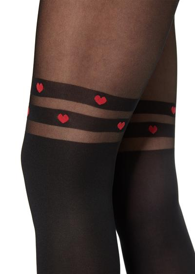 Stripes and hearts longuette tights