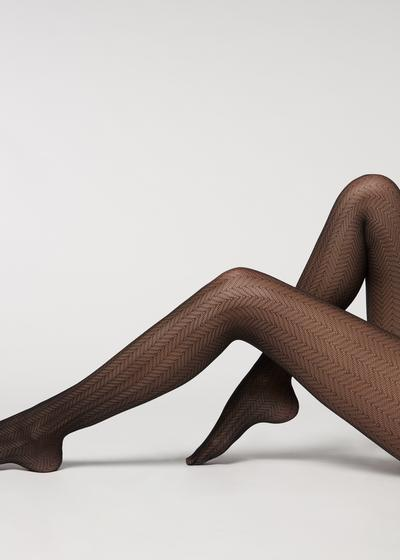 Zig zag tulle effect tights