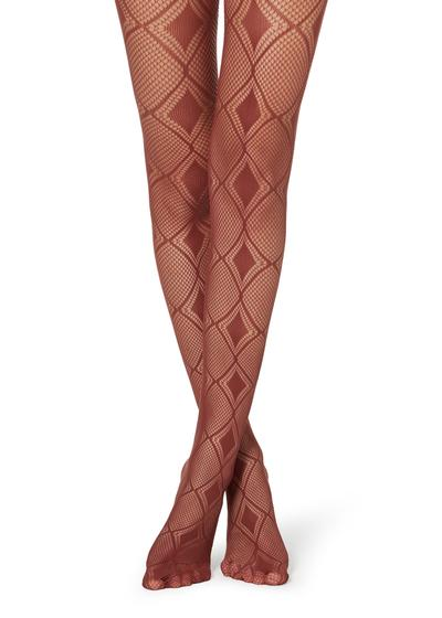 Collants résille motif losanges