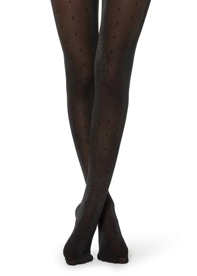 Polka dot glitter tights