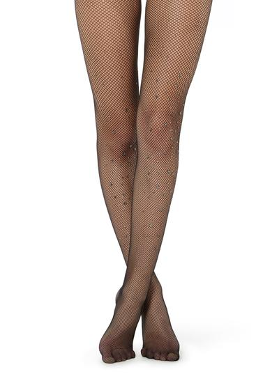 Collants résille motif pailleté