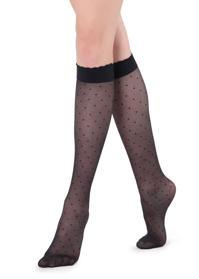 Patterned knee-high socks