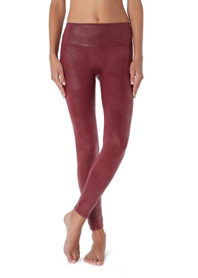 Leather Effect Total Shaper Leggings