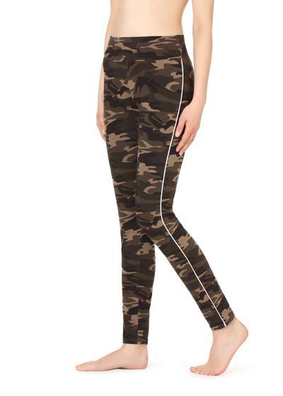 Leggings com faixa padrão camuflado