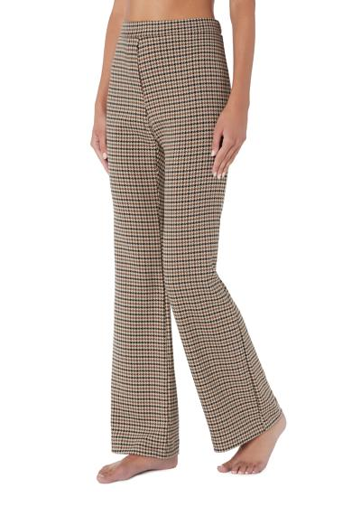 Houndstooth Palazzo Leggings