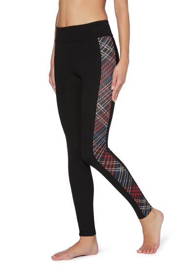 Leggings Remodelants au Motif Tartan