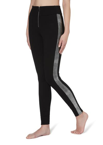 Shaping-Leggings mit Metallic-Seitenband