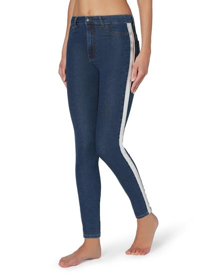 Metallic Side Band Push-up and Soft Touch jeans
