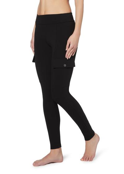 Cotton-comfort utility leggings