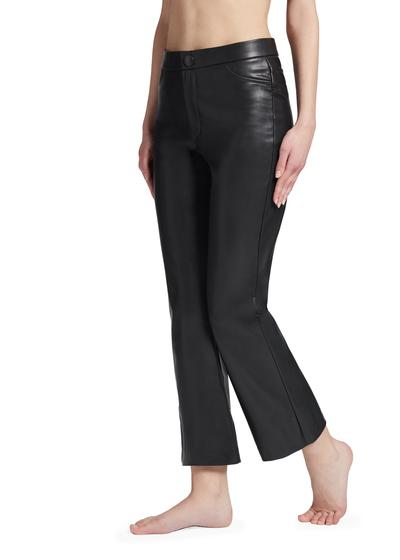Cropped Flair Leather-Look Leggings