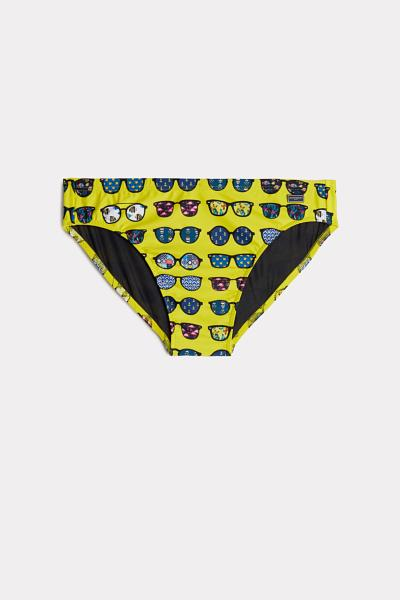 Banana Leaf Print Swim Briefs