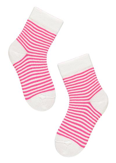 Newborn patterned cotton ankle socks
