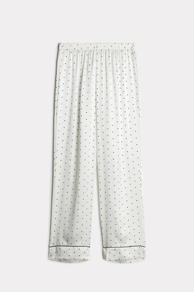 Lace Desire Silk Trousers