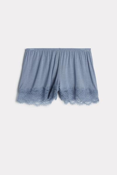 Pantaloncini super leggeri in pizzo con Modal Cashmere Ultralight