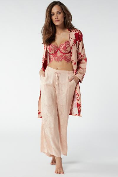 Flower Ballet Jacquard Satin Trousers