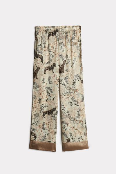 Tiger Night Silk Trousers