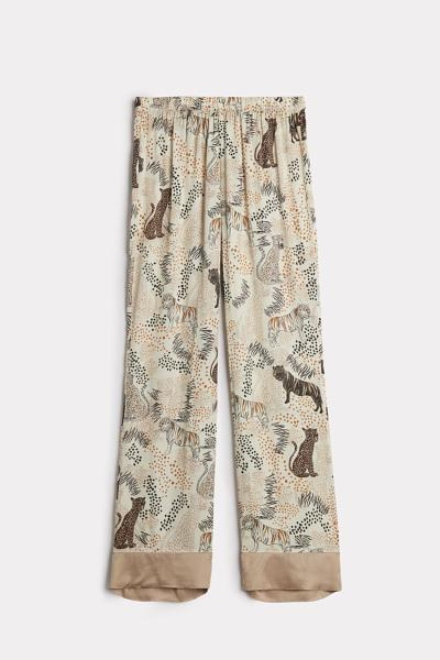 Tiger Night Viscose Satin Trousers