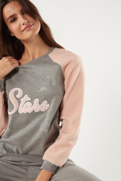 Long Interlock Stars Pyjama