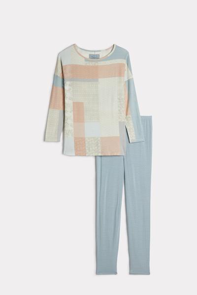 Long Jacquard Modal Pyjamas